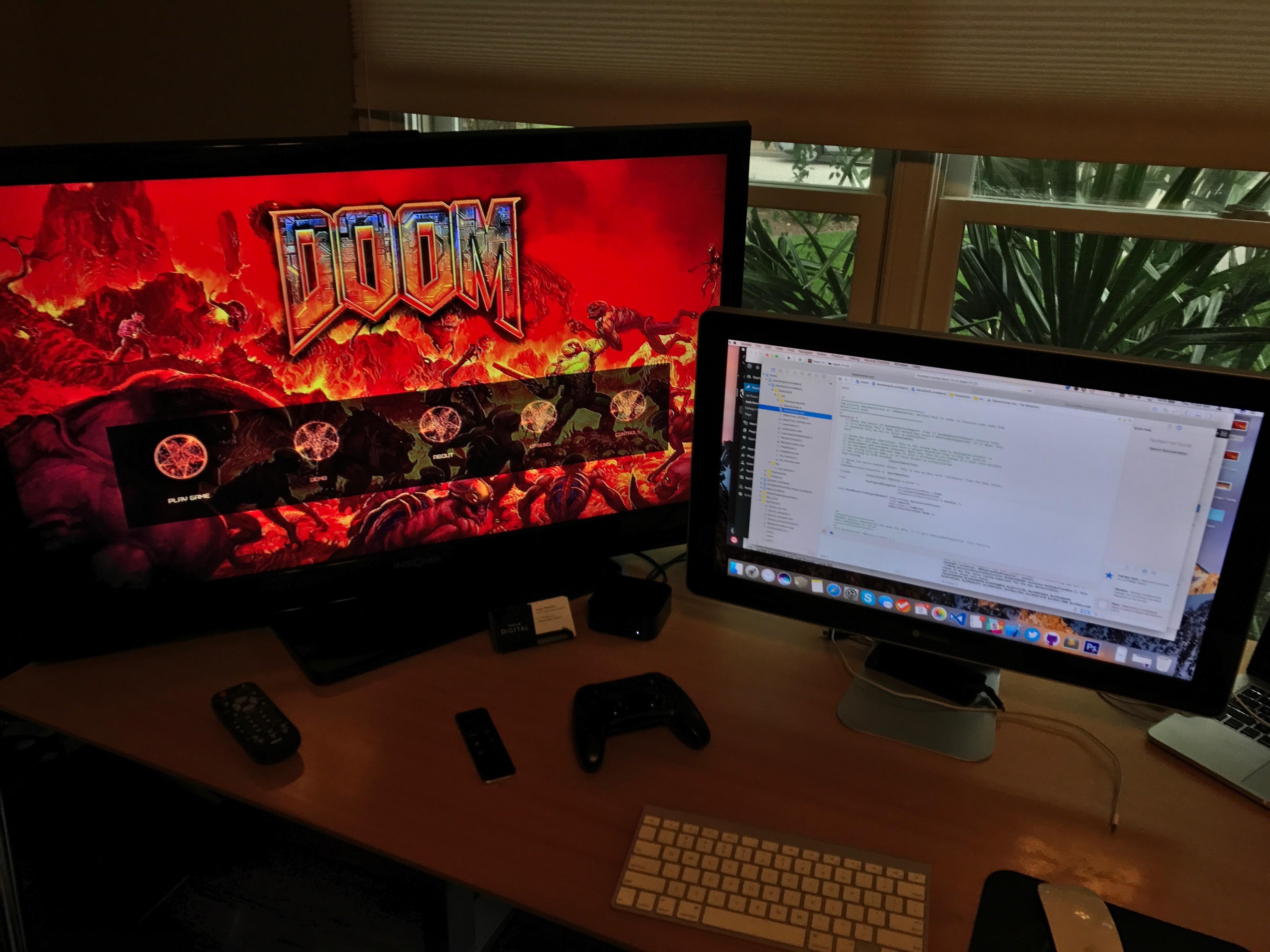 Doom for tvOS Running!